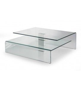 Table basse design en verre Bruny