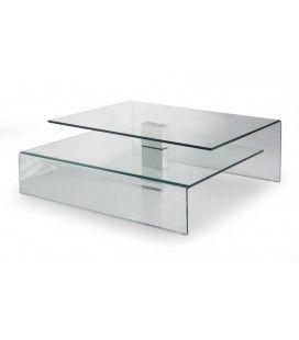 Table basse design en verre Bruny -