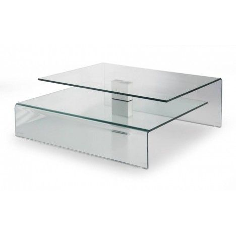 Table basse design en verre Bruny -