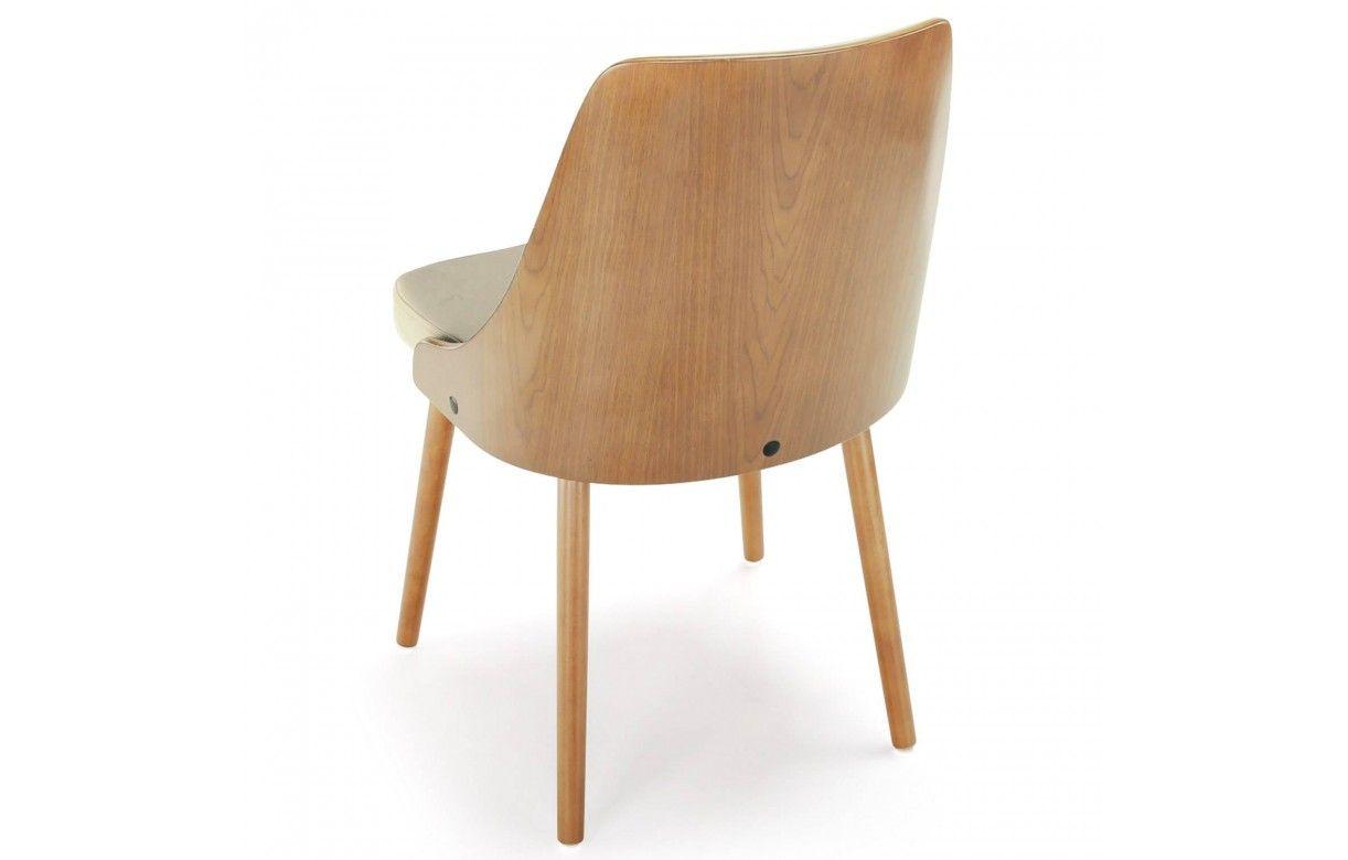 lot de 2 chaises scandinaves blanc et gris lyly. Black Bedroom Furniture Sets. Home Design Ideas