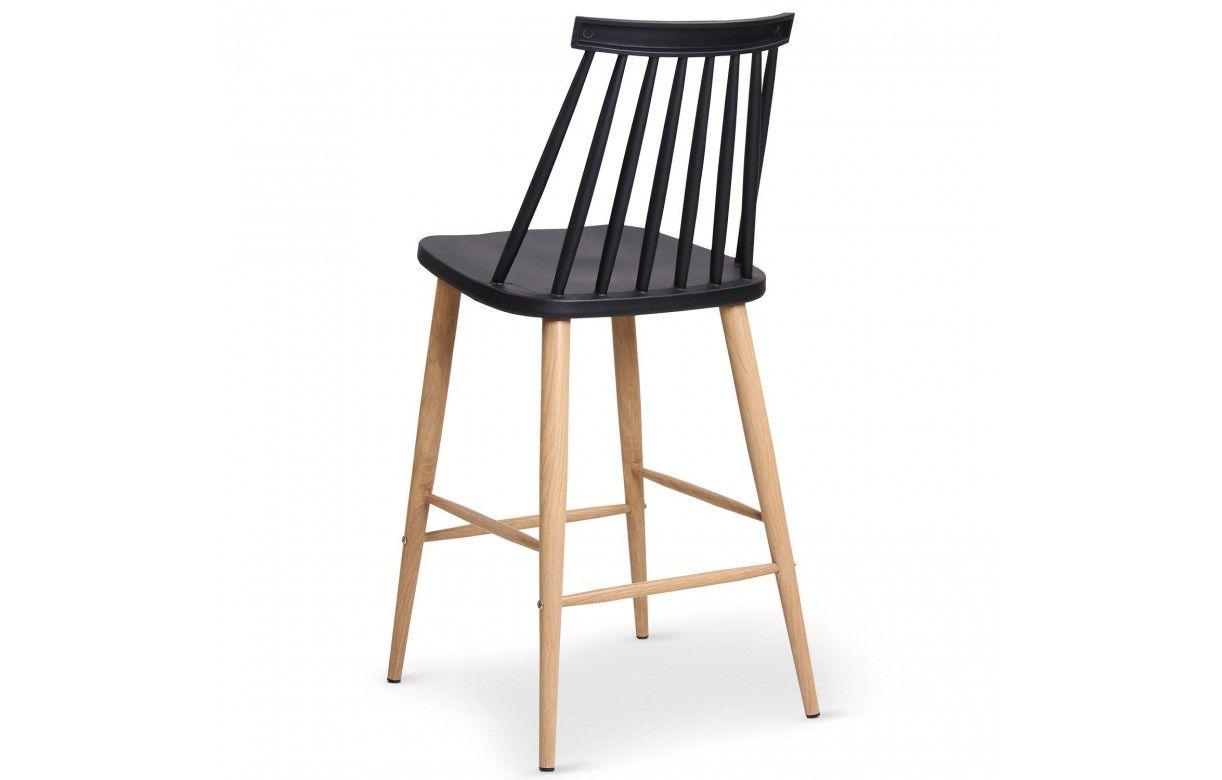 Chaise de bar style bistrot scandinave lot de 2 - Chaise de bar scandinave ...