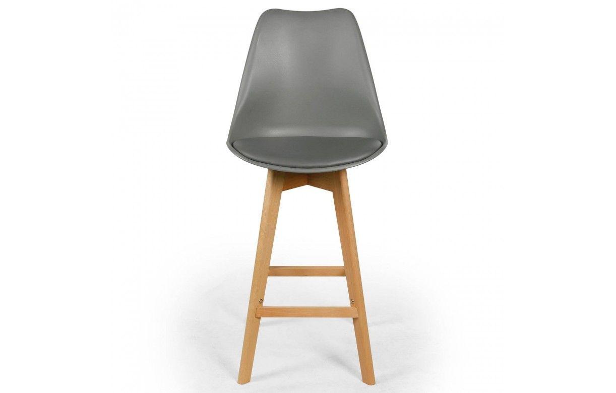 Chaise de bar style Eames Lot de 4 # Chaise De Bar Pied En Bois