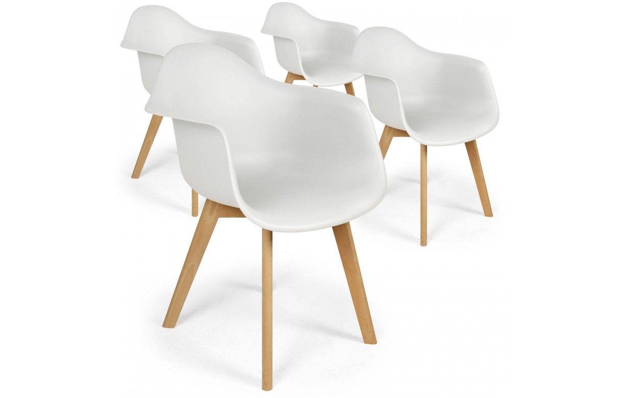 Chaises scandinaves avec pieds bois Prady Lot de 4 De e Store