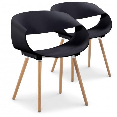 Lot de 2 chaises scandinaves design zenata