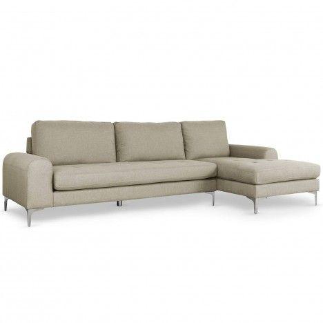 Canapé d'angle droite en tissu nordique scandinave -