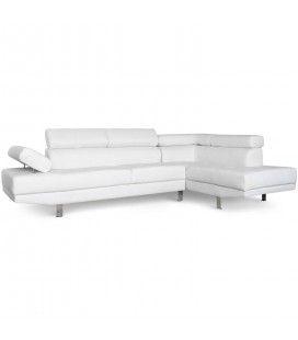 Canapé d'angle à droite avec têtières relevables Alfa -