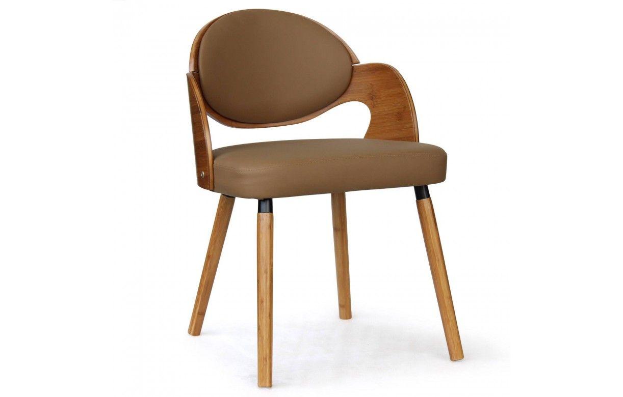 chaise blanc et bois fonc scandinave estel. Black Bedroom Furniture Sets. Home Design Ideas