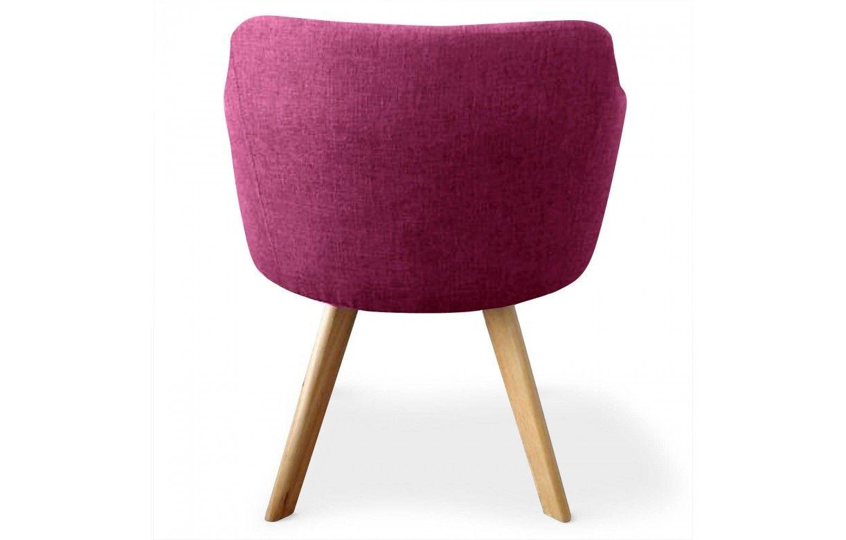 Chaise fauteuil scandinave dantes tissu 5 coloris for Chaise fauteuil scandinave