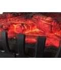 Foyer de cheminée électrique imitation feu de bois bûches rougissantes -