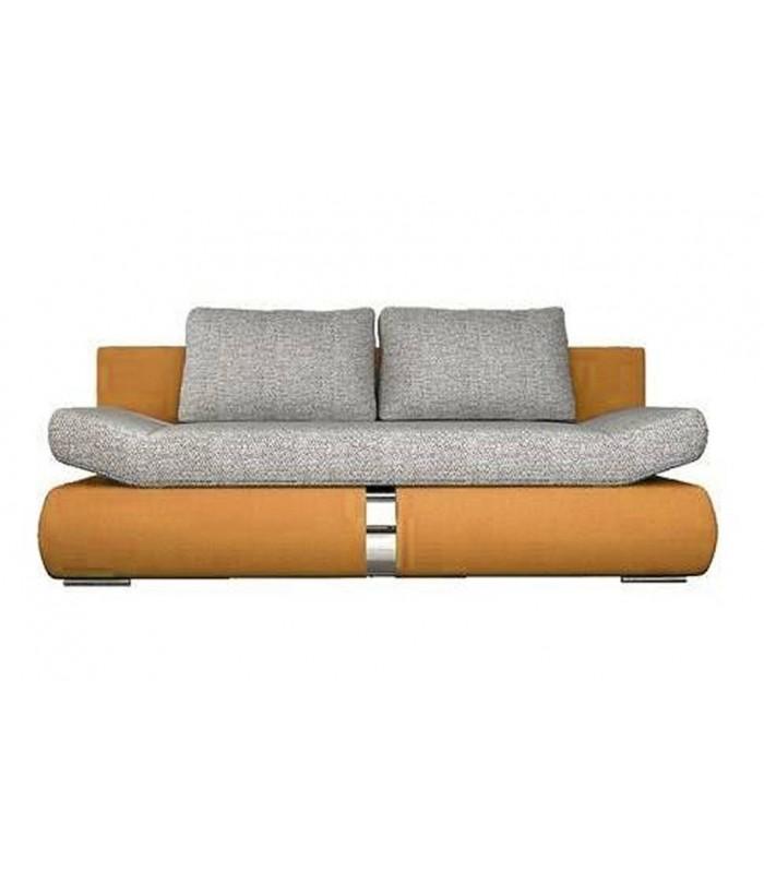canap banquette convertible orange et tissu gris decome ForCanape Banquette Convertible