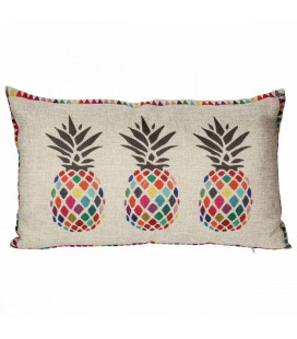 Coussin déco ananas multicolore -