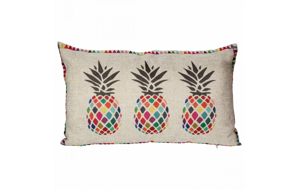 coussin d co ananas multicolore. Black Bedroom Furniture Sets. Home Design Ideas