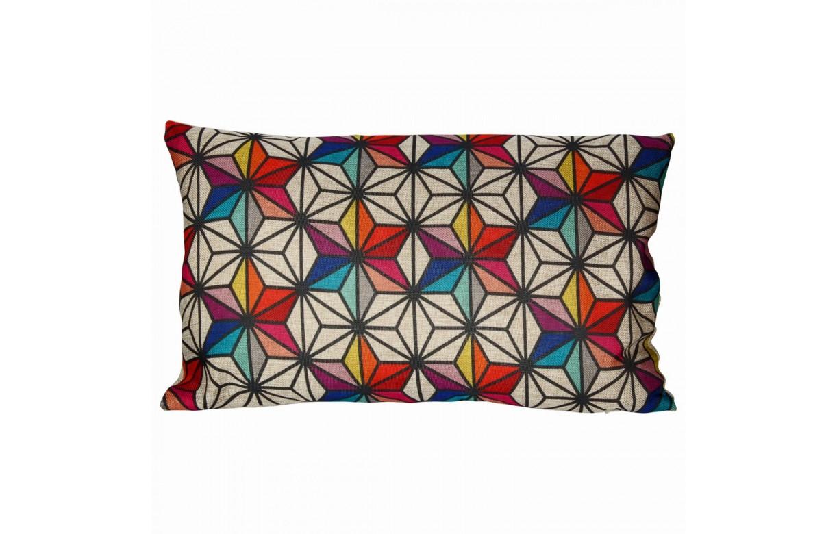coussin multicolore motifs nordiques scandinave. Black Bedroom Furniture Sets. Home Design Ideas