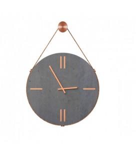 Horloge murale béton et cuivre