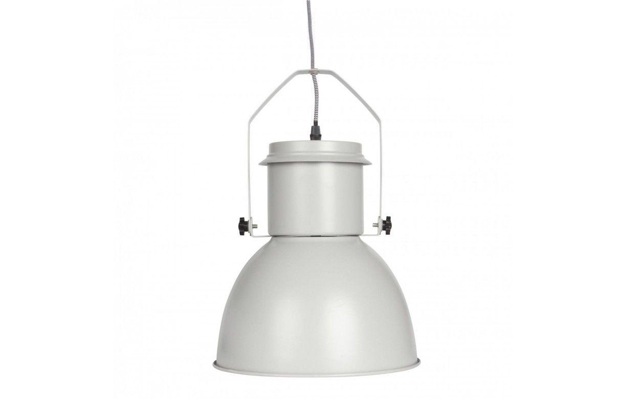 suspension style industriel en m tal noir gris ou blanc. Black Bedroom Furniture Sets. Home Design Ideas