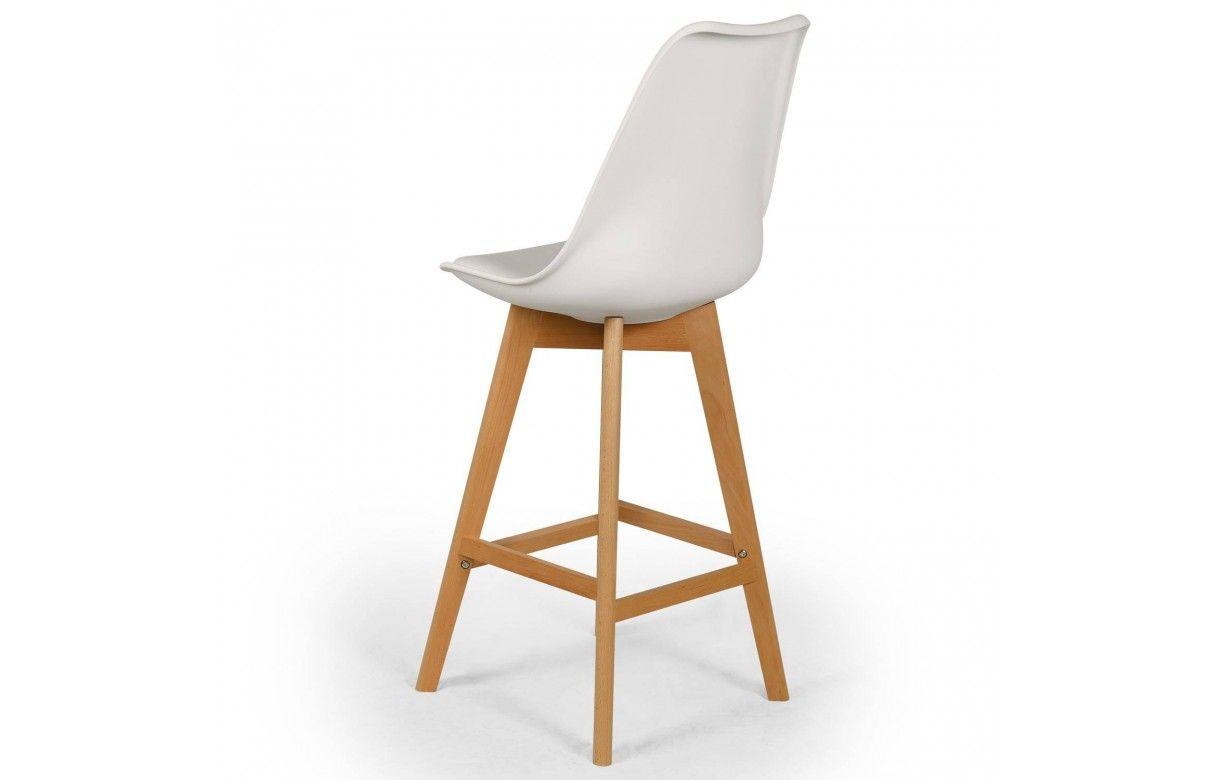 Chaise De Bar Pied En Bois - Chaise de bar style Eames Lot de 4