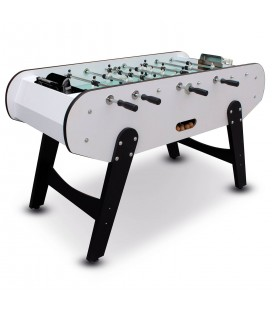 Baby-foot noir et blanc joueurs en aluminium H.99cm