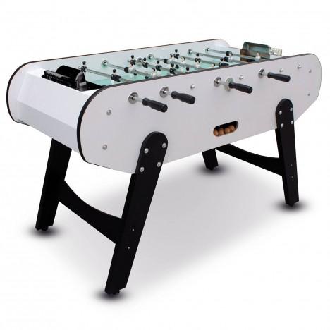 Baby-foot noir et blanc joueurs en aluminium H.99cm -