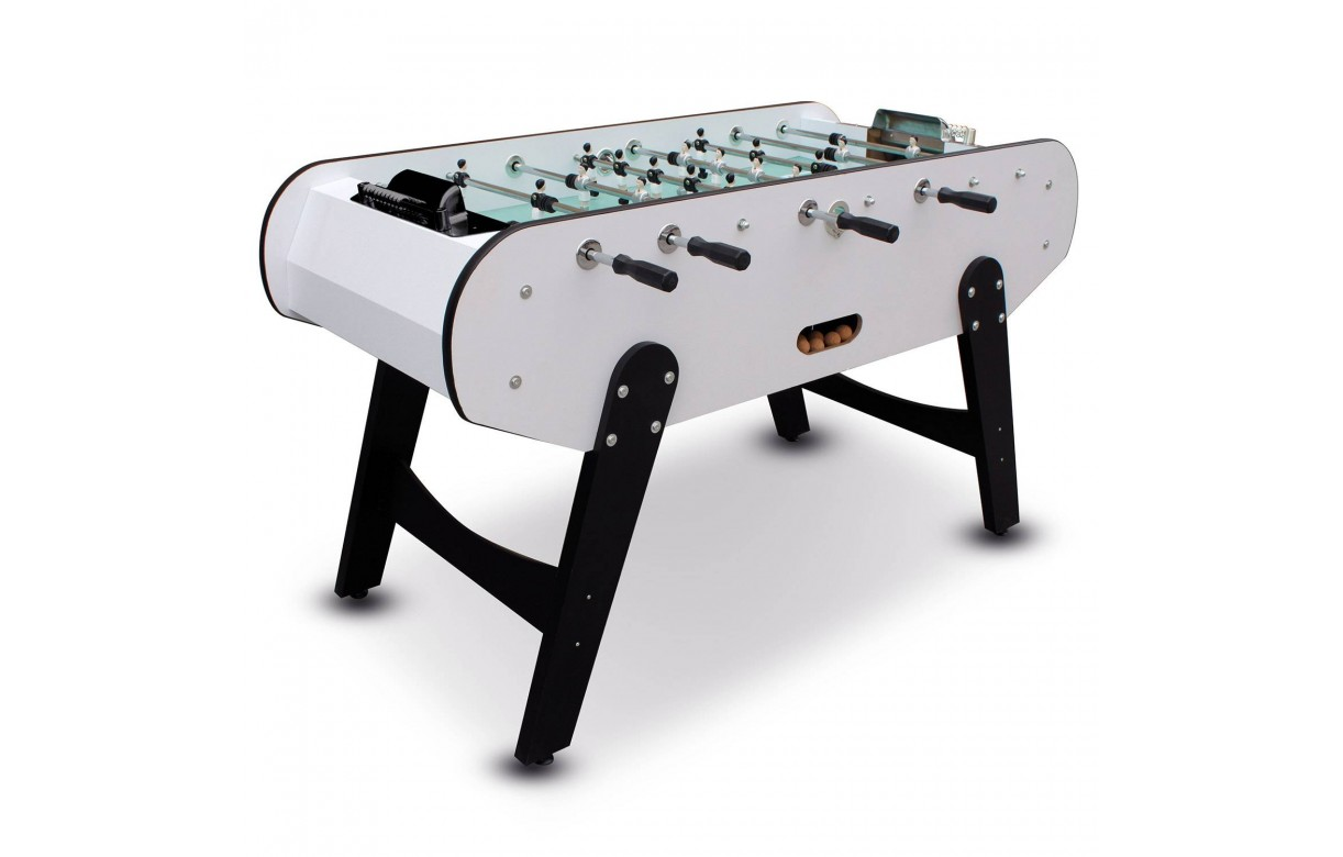 baby foot blanc joueurs en aluminium. Black Bedroom Furniture Sets. Home Design Ideas