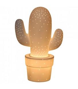 Lampe cactus décorative blanche design 30 cm -
