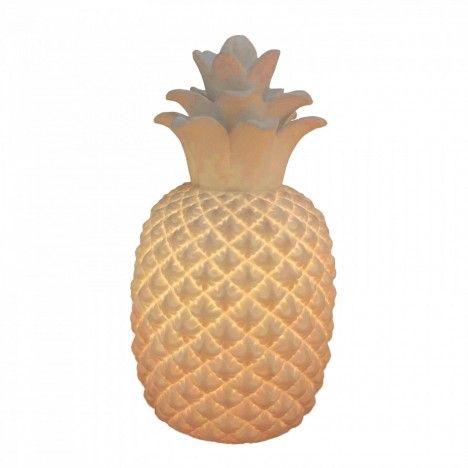 Lampe ananas décorative blanche design 30 cm -