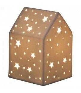 Lampe déco petite maison design 20cm