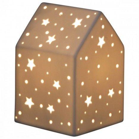 Lampe déco petite maison design 20cm -