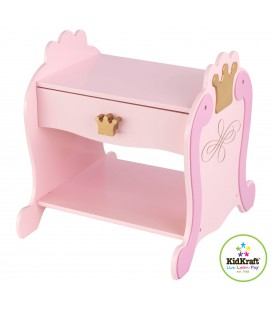 Chevet table de nuit rose Princesse 76124