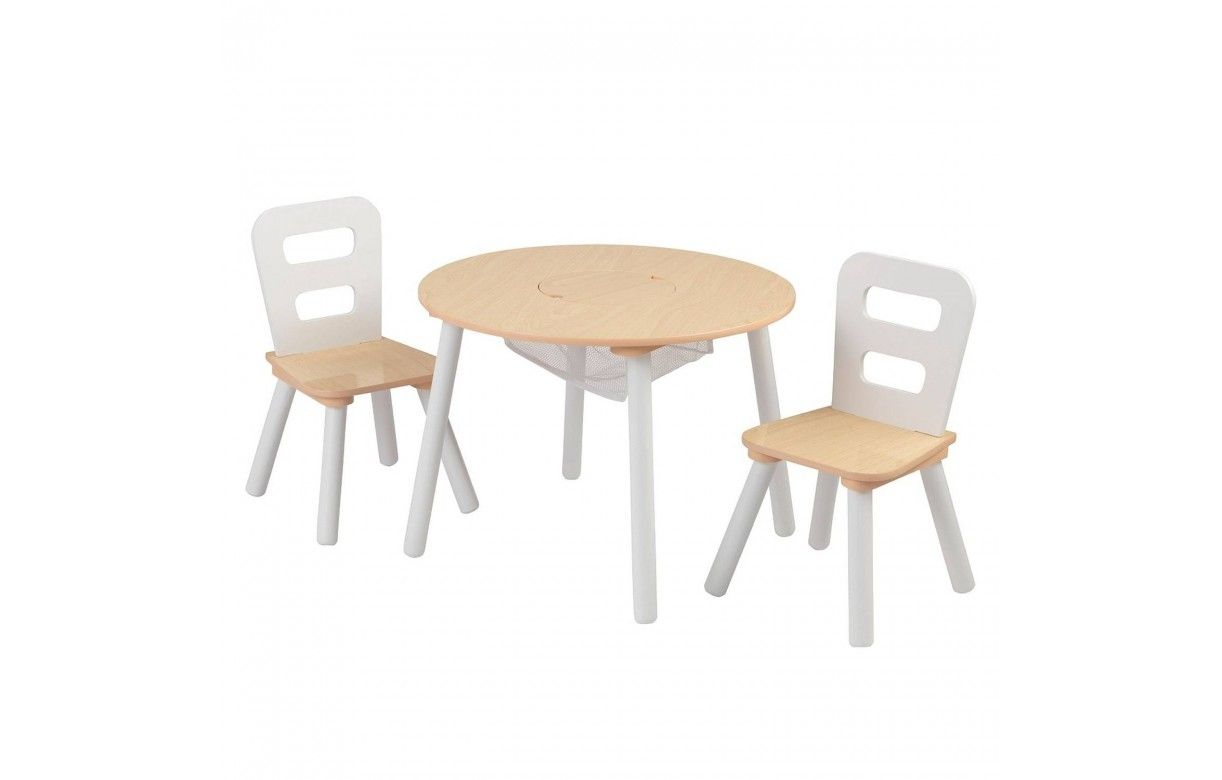 table et 2 chaises enfant blanc et bois. Black Bedroom Furniture Sets. Home Design Ideas