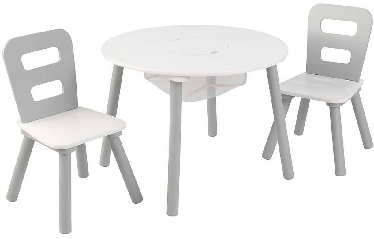 Table Et Chaise Petite Fille table et 2 chaises enfant blanc et gris clair