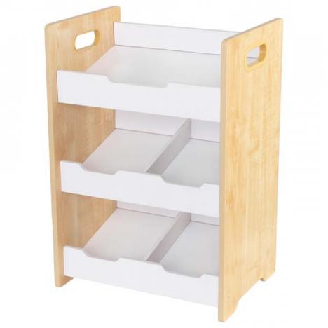 etag re de rangements enfant blanc et bois clair kidkraft 15766. Black Bedroom Furniture Sets. Home Design Ideas