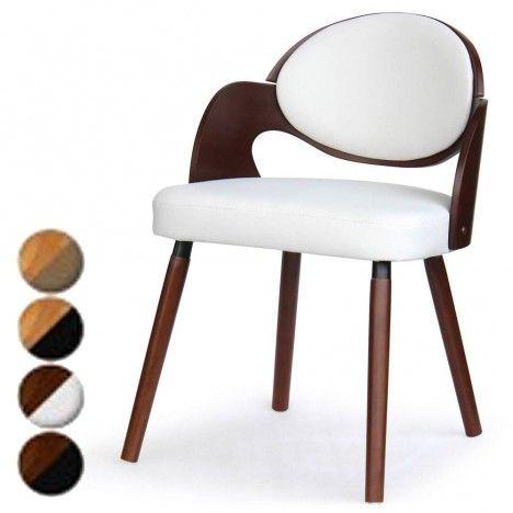 Lot de 2 chaises design scandinave Estel - 4 coloris -