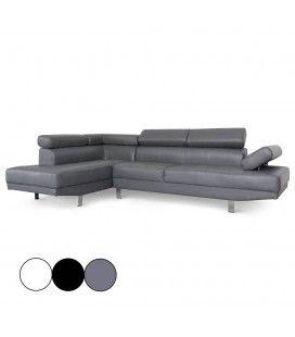 Canapé d'angle à gauche avec têtières relevables Alfa