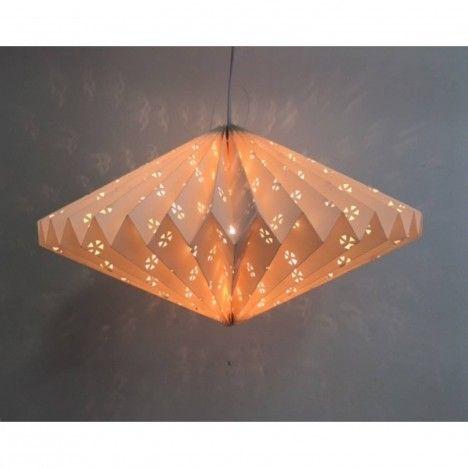 Lampion origami blanc à suspendre -