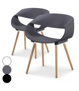 Lot de 2 chaises scandinaves design Zenata -