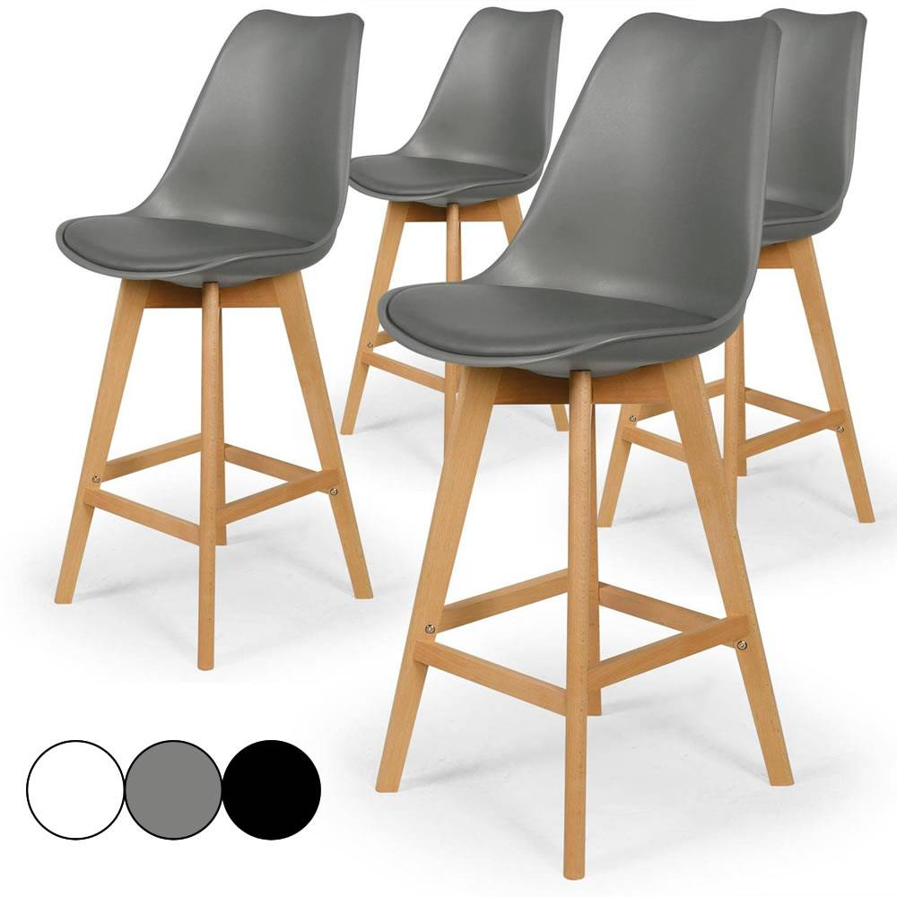 tabouret de bar eames great lot de tabourets de bar design avec reposepieds mtal et pitement en. Black Bedroom Furniture Sets. Home Design Ideas
