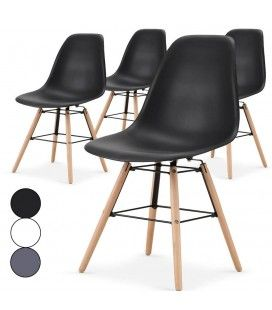 Lot de 4 chaises scandinaves Lisy - 3 coloris
