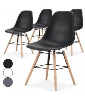 Lot de 4 chaises scandinaves Lisy - 3 coloris -