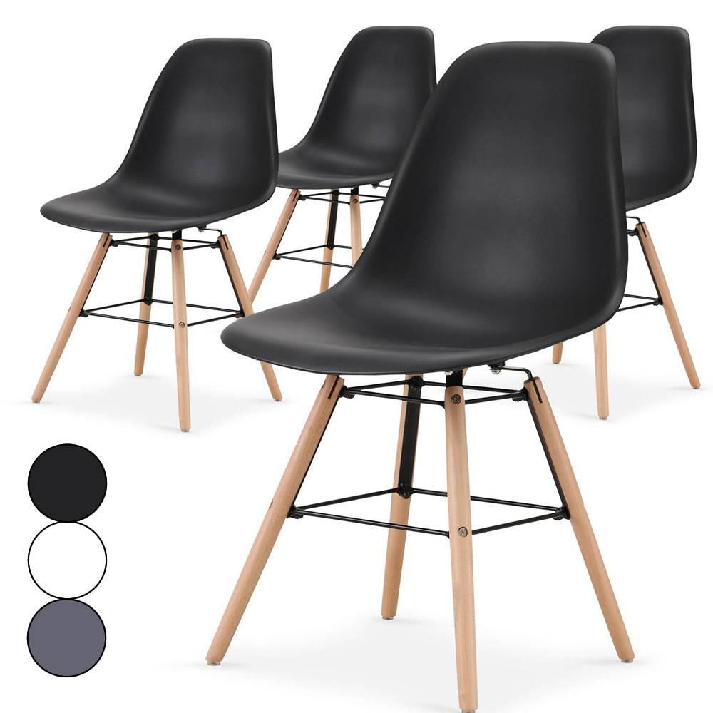 d2cead545d2a38 Lot de 4 chaises scandinaves Lisy - 3 coloris