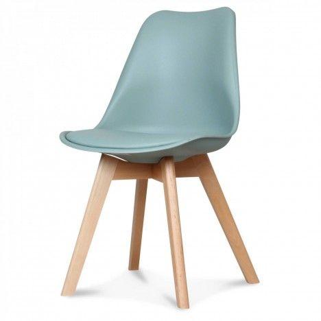 Chaise scandinave et pieds en bois Norway - Lot de 2 -