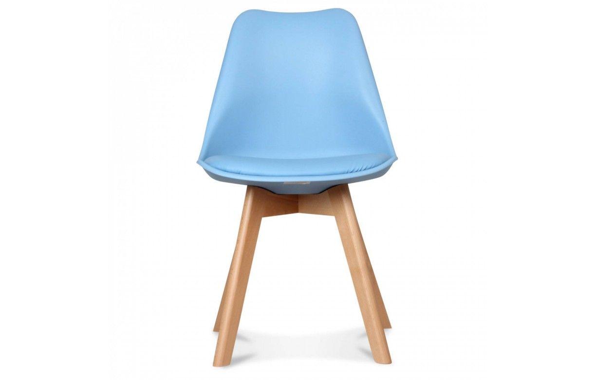 Chaise scandinave color e et pieds bois norway lot de 2 for Chaise bois coloree