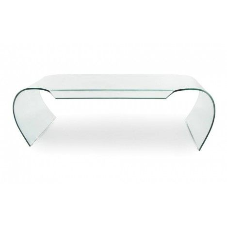 Table basse en verre courbé 12mm design -