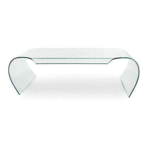 Table basse en verre courbé 12mm design -