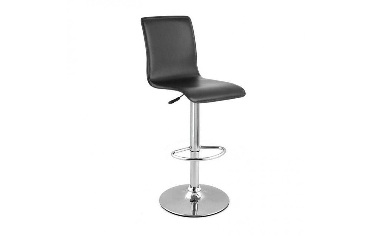 tabouret de bar simili cuir gris pas cher lot de 2. Black Bedroom Furniture Sets. Home Design Ideas