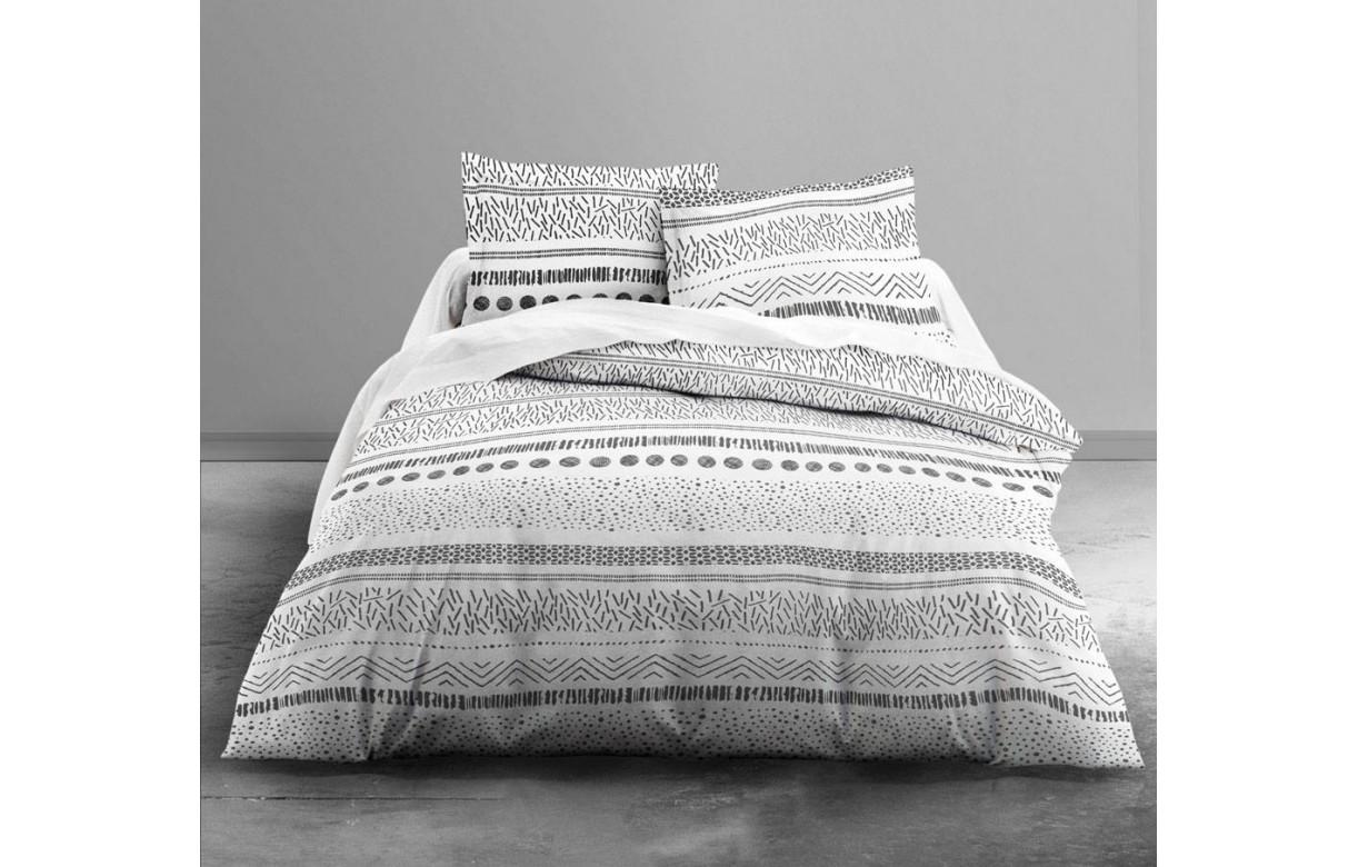 housse de couette 220 x 240 cm 2 taies malawi decome store. Black Bedroom Furniture Sets. Home Design Ideas