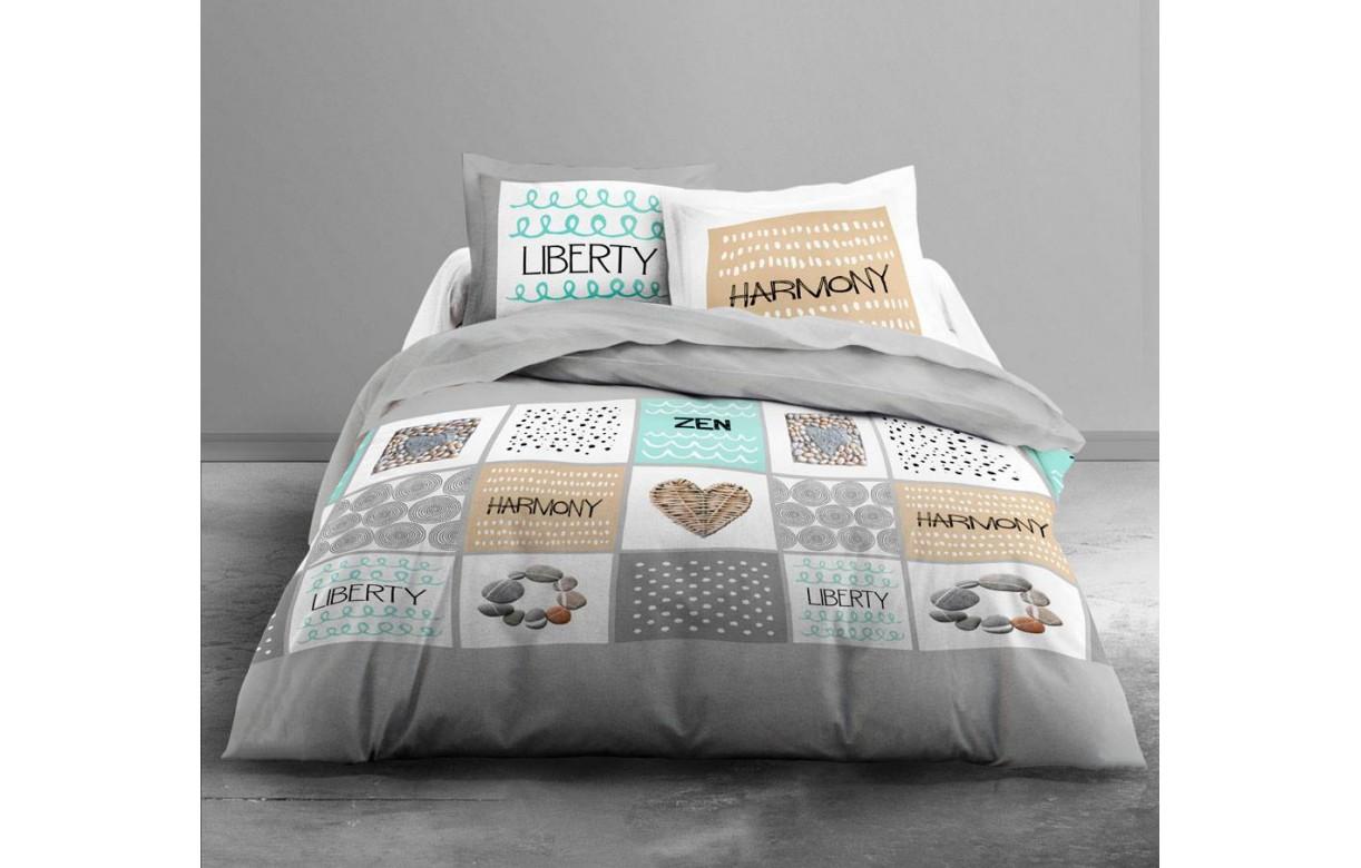 housse de couette 220 x 240 cm 2 taies liberty decome. Black Bedroom Furniture Sets. Home Design Ideas