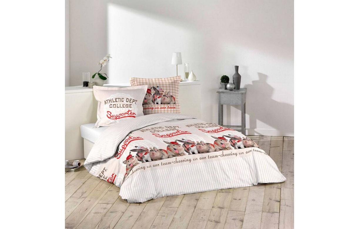 housse de couette 220 x 240 cm 2 taies chester decome. Black Bedroom Furniture Sets. Home Design Ideas