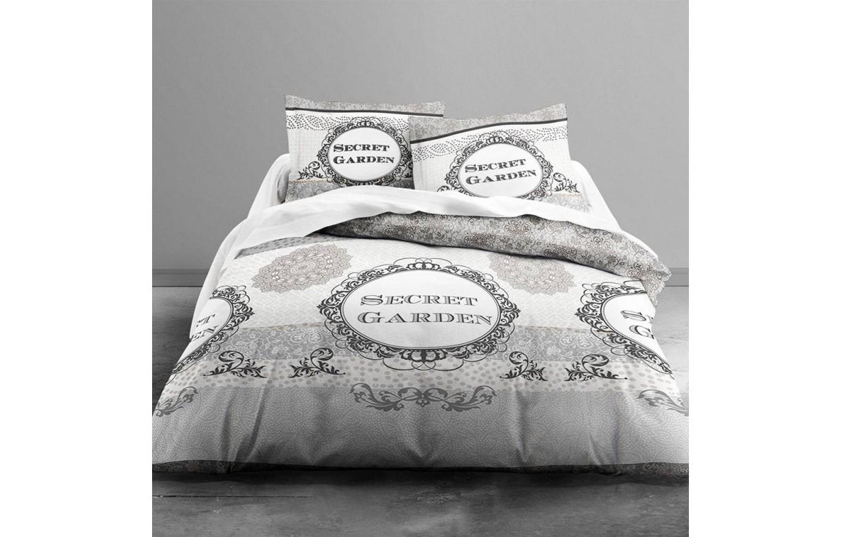 housse de couette 220 x 240 cm 2 taies secret garden. Black Bedroom Furniture Sets. Home Design Ideas