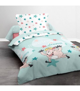 Housse de couette 140 x 200 cm + 1 taie Monster dreams -
