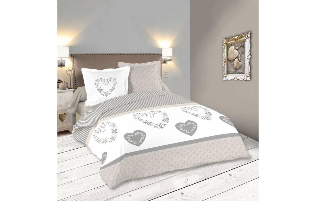 housse de couette 220 x 240 cm 2 taies manoir decome store. Black Bedroom Furniture Sets. Home Design Ideas
